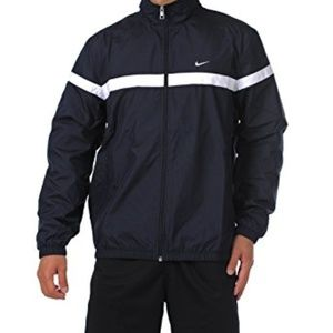 Nike navy blue classic woven windbreaker jacket
